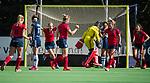 AMSTELVEEN  - Lieke van Wijk (Lar) heeft gescoord,  , hoofdklasse hockeywedstrijd dames Pinole-Laren (1-3). COPYRIGHT  KOEN SUYK