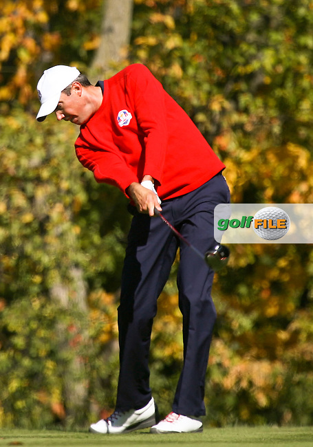 30 SEP 12  Matt Kuchar on the 5th tee at The 39th Ryder Cup at The Medinah Country Club in Medinah, Illinois.                                          (photo:  kenneth e.dennis / kendennisphoto.com)