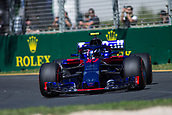 23rd March 2018, Melbourne Grand Prix Circuit, Melbourne, Australia; Melbourne Formula One Grand Prix, Friday free practice; The number 10 Red Bull Toro Rosso Honda driven by Pierre Gasly