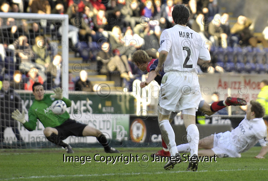 03/03/2007       Copyright Pic: James Stewart.File Name : sct_jspa08_falkirk_v_aberdeen.DEAN HOLDEN SCORES FALKIRK'S GOAL....James Stewart Photo Agency 19 Carronlea Drive, Falkirk. FK2 8DN      Vat Reg No. 607 6932 25.Office     : +44 (0)1324 570906     .Mobile   : +44 (0)7721 416997.Fax         : +44 (0)1324 570906.E-mail  :  jim@jspa.co.uk.If you require further information then contact Jim Stewart on any of the numbers above.........
