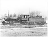 Denver, Boulder &amp; Western Railroad engine #4.<br /> Denver, Boulder &amp; Western    Taken by Larson,