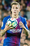 Lucas Digne of FC Barcelona looks during the La Liga 2017-18 match between FC Barcelona and SD Eibar at Camp Nou on 19 September 2017 in Barcelona, Spain. Photo by Vicens Gimenez / Power Sport Images