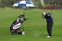 Beth Coulter (Kirkistown Castle) on the 1st fairway during Round 1 of the Irish Girls U18 Open Stroke Play Championship at Roganstown Golf &amp; Country Club, Dublin, Ireland. 05/04/19 <br /> Picture:  Thos Caffrey / www.golffile.ie