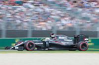 March 20, 2016: Fernando Alonso (ESP) #14 from the McLaren Honda Formula 1 team at turn two of the 2016 Australian Formula One Grand Prix at Albert Park, Melbourne, Australia. Photo Sydney Low