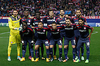 Olympiacos´s players before Champions League soccer match between Atletico de Madrid and Olympiacos at Vicente Calderon stadium in Madrid, Spain. November 26, 2014. (ALTERPHOTOS/Victor Blanco) /NortePhoto
