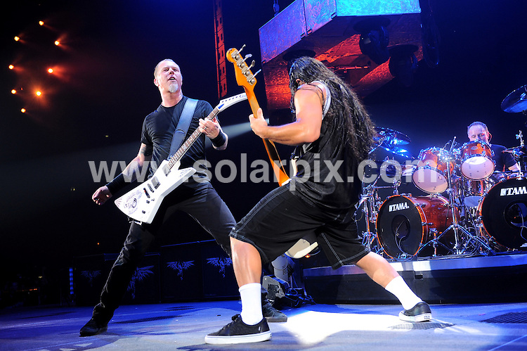 **ALL ROUND PICTURES FROM SOLARPIX.COM**.**WORLDWIDE SYNDICATION RIGHTS EXCLUDING ITALY - NO PUBLICATION IN ITALY** .Metallica perform live at Assago's forum in Milan, Italy. 22 June 2009..This pic: Metallica..JOB REF: 9037 MXN       DATE: 22_06_2009.**MUST CREDIT SOLARPIX.COM OR DOUBLE FEE WILL BE CHARGED**.**ONLINE USAGE FEE GBP 50.00 PER PICTURE - NOTIFICATION OF USAGE TO PHOTO @ SOLARPIX.COM**.**CALL SOLARPIX : +34 952 811 768 or LOW RATE FROM UK 0844 617 7637**