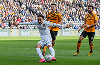 Leeds United's Helder Costa shoots at goal<br /> <br /> Photographer Alex Dodd/CameraSport<br /> <br /> The EFL Sky Bet Championship - Hull City v Leeds United - Saturday 29th February 2020 - KCOM Stadium - Hull<br /> <br /> World Copyright © 2020 CameraSport. All rights reserved. 43 Linden Ave. Countesthorpe. Leicester. England. LE8 5PG - Tel: +44 (0) 116 277 4147 - admin@camerasport.com - www.camerasport.com