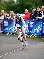 Photo: Richard Lane/Richard Lane Photography. British Triathlon Super Series, Parc Bryn Bach. 18/07/2009. .Elinor Thorogood cycles in the Women's Elite Race.
