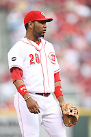 June 18, 2008: Cincinnati Reds third baseman Edwin Encarnacion (28) at The Great American Ballpark in Cincinnati, OH.  Photo by: Chris Proctor/Four Seam Images