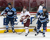 Vendula Pribylová (Maine - 28), Makenna Newkirk (BC - 19), Brooke Stacey (Maine - 3), Megan Keller (BC - 4) - The Boston College Eagles defeated the visiting University of Maine Black Bears 2-1 on Saturday, October 8, 2016, at Kelley Rink in Conte Forum in Chestnut Hill, Massachusetts.  The University of North Dakota Fighting Hawks celebrate their 2016 D1 national championship win on Saturday, April 9, 2016, at Amalie Arena in Tampa, Florida.