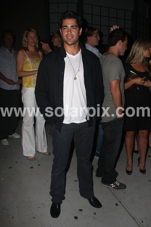 **ALL ROUND PICTURES FROM SOLARPIX.COM**.**SYNDICATION RIGHTS FOR UK AND SPAIN ONLY**.Jesse Metcalfe (Desperate Housewives) poses for paparazzi outside Koi restaurant in West Hollywood, California, USA. 14th August 2008..This pic: Jesse Metcalfe..JOB REF: 7022 LAP/Lancer        DATE: 14_08_2008.**MUST CREDIT SOLARPIX.COM OR DOUBLE FEE WILL BE CHARGED* *UNDER NO CIRCUMSTANCES IS THIS IMAGE TO BE REPRODUCED FOR ANY ONLINE EDITION WITHOUT PRIOR PERMISSION*