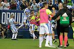CD Leganes' players celebrate goal during La Liga match. September 26,2018. (ALTERPHOTOS/Acero)