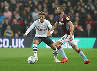 Preston North End's Callum Robinson in action with Aston Villa's Conor Hourihane<br /> <br /> Photographer Mick Walker/CameraSport<br /> <br /> The EFL Sky Bet Championship - Aston Villa v Preston North End - Tuesday 2nd October 2018 - Villa Park - Birmingham<br /> <br /> World Copyright &copy; 2018 CameraSport. All rights reserved. 43 Linden Ave. Countesthorpe. Leicester. England. LE8 5PG - Tel: +44 (0) 116 277 4147 - admin@camerasport.com - www.camerasport.com