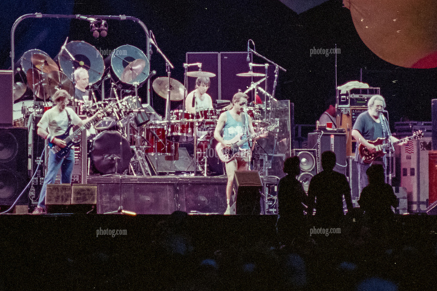 The Grateful Dead at Foxboro Stadium 2 July 1989. 25th Anniversary Tour.