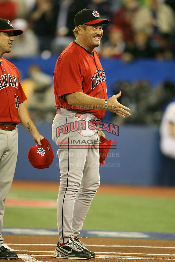 March 7, 2009:  Manager Ernie Whitt of Canada during the first round of the World Baseball Classic at the Rogers Centre in Toronto, Ontario, Canada.  Team USA defeated Canada 6-5 in both teams opening game of the tournament.  Photo by:  Mike Janes/Four Seam Images