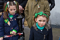 Fair Street Peter Street corner Clarkes at the back<br /> St Patricks Day Parade route from George Street through Fair Street Peter Street Shop Street and ending some where down along the North Quay