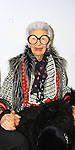 Fashion Muse Iris Apfel in Armani - Celebrity Fashion Stylist Felix Mercado's Fashion Nght Out Runway Show and After Party was held on September 6, 2012 at Loehmann's, New York City, New York with celebrities Jordana Brewster (As The World Turns, Dallas and Fast and the Furious), Lisa Vanderpump (The Real Housewives of Beverly Hills with husband Ken Todd and doggie Giggy (Gigolo) and Iris Apfel (fashion muse).  (Photo by Sue Coflin/Max Photos)