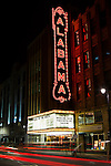 The historic Alabama Theater in Birmingham, Alabama