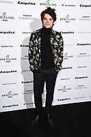 Edward Bluemel<br /> arriving for the Esquire Townhouse 2019 launch party, London.<br /> <br /> ©Ash Knotek  D3528 16/10/2019