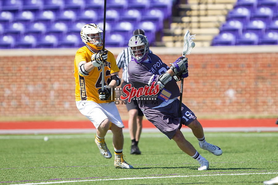 at Vert Track, Soccer & Lacrosse Stadium on March 15, 2014 in High Point, North Carolina.  The Panthers defeated the Retrievers 17-15.   (Brian Westerholt/Sports On Film)