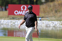 Ryan Fox (NZL) on the 13th green during Sunday's Final Round 4 of the 2018 Omega European Masters, held at the Golf Club Crans-Sur-Sierre, Crans Montana, Switzerland. 9th September 2018.<br /> Picture: Eoin Clarke | Golffile<br /> <br /> <br /> All photos usage must carry mandatory copyright credit (© Golffile | Eoin Clarke)