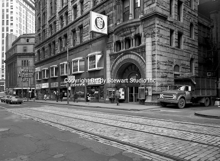 Pittsburgh PA:  Sixth Avenue looking west toward Wood Street - 1970
