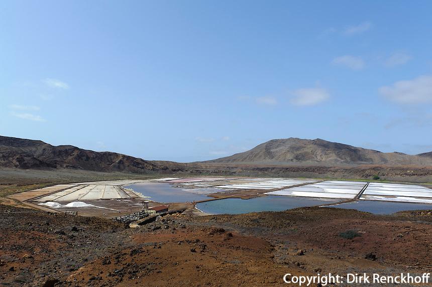 Saline im Krater von Pedra de Lume, Sal, Kapverden, Afrika