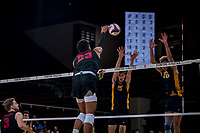 STANFORD, CA -- January 19,2019. The Stanford Cardinal men's volleyball team loses to the UC Irvine Anteaters 3-1 at Maples Pavilion.
