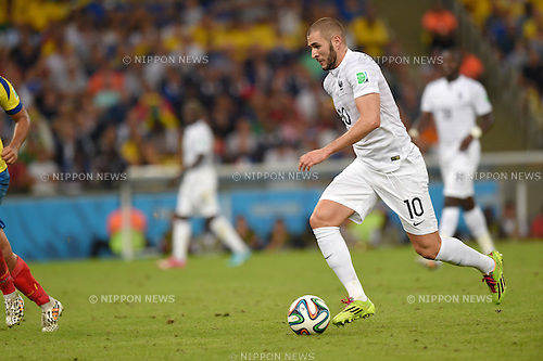 Karim Benzema (FRA),<br /> JUNE 25, 2014 - Football / Soccer : FIFA World Cup Brazil 2014 Group E match between Ecuador 0-0 France at Estadio Do Maracana stadium in Rio de Janeiro, Brazil.<br /> (Photo by FAR EAST PRESS/AFLO)