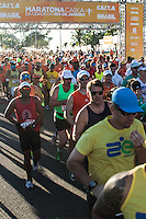RIO DE JANEIRO; RJ; 07 DE JULHO DE 2013 - MARATONA DO RIO DE JANEIRO - Atletas iniciam a Maratona no Recreio dos Bandeirantes, zona oeste da cidade. FOTO: NÉSTOR J. BEREMBLUM - BRAZIL PHOTO PRESS.