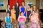 BELLS OF THE BALL: Having fun at the St Joesph's Presentation, Castleisland debs at the Abbeygate hotel, Tralee on Friday seated l-r: Chloe O'Connor, Noreen Breen and Aileen Cullnane. Back l-r: Niamh Tangey, Aileen Hanrahan, Jessica Murphy, Muiread McKeown, Siobhan McCarthy and Aisling Feehan.