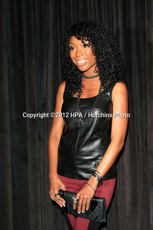 "LOS ANGELES - AUG 28:  Brandy Norwood arrives at ""You, Me & The Circus"" Premiere at SupperClub on August  28, 2012 in Los Angeles, CA"