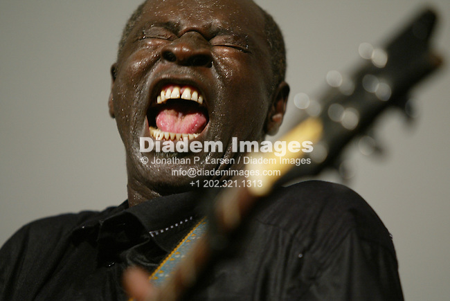 WASHINGTON - JULY 5:  Malian guitarist Ali Farka Toure performs at the 2003 Simthsonian Folk Life Festival July 5, 2003 in Washington, DC.  Editorial use only.  Commercial use prohibited.  (Photograph by Jonathan Paul Larsen)