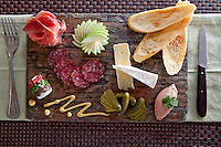 French Paradox:   duck liver mousse p&acirc;te, prosciutto, dry-cured salami, fine cheeses, cornichons, house-made dijon mustanrd, crostinis<br /> Waterfront Bistro .Cruz Bay, St. John.U.S. Virgin Islands