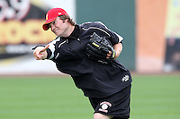 Nashville Sounds pitcher Tim Dillard #17 during a pre-game workout before a game against the Omaha Storm Chasers at Greer Stadium on April 26, 2011 in Nashville, Tennessee.  The game was cancelled due to rain.  Photo By Mike Janes/Four Seam Images