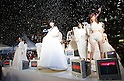 "October 20, 2012, Tokyo, Japan - A picture made available on October 21 shows models posing on stage wearing ""Jenny Fax"" during Mercedes-Benz Fashion Week Tokyo 2013 Spring/Summer. (Photo by Christopher Jue/Nippon News)"