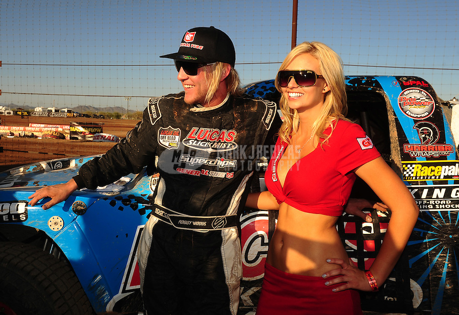 Apr 17, 2011; Surprise, AZ USA; LOORRS driver Robby Woods (99) during round 4 at Speedworld Off Road Park. Mandatory Credit: Mark J. Rebilas-