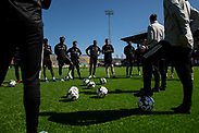 OSTERSUND, SWEDEN - MAY 21: Players of Ostersunds FK comes together during the Ostersunds FK training session at Jamtkraft Arena on May 21, 2020 in Ostersund, Sweden. Despite the Coronavirus (COVID-19) pandemic, Ostersunds FK have restarted their training sessions. (Photo by David Lidström Hultén/LPNA)