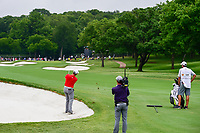 Jon Rahm (ESP) hits his second shot on 1 during round 4 of the Dean &amp; Deluca Invitational, at The Colonial, Ft. Worth, Texas, USA. 5/28/2017.<br /> Picture: Golffile | Ken Murray<br /> <br /> <br /> All photo usage must carry mandatory copyright credit (&copy; Golffile | Ken Murray)