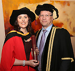 20/1/2015   (with compliments)  Attending the University of Limerick conferrings on Tuesday afternoon were  Suzanne Dunne, Kilsheelin, Co. Tipperary who was conferred with a PHD and Prof. Colum Dunne, Director Research Medical School.<br /> Picture Liam Burke/Press 22