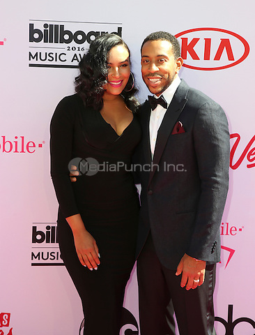 LAS VEGAS, NV - MAY 22: Eudoxie Mbouguiengue, Christopher 'Ludacris' Bridges attends the 2016 Billboard Music Awards at T-Mobile Arena on May 22, 2016 in Las Vegas, Nevada. Credit: Parisa/MediaPunch.