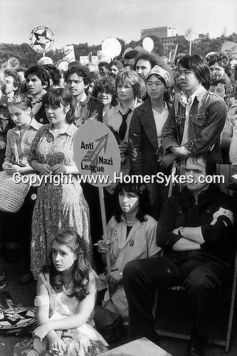 Rock Against Racism rally Hyde Park London 1978.