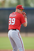 Washington Nationals pitcher Alex Troop (39) doing pitching drills before a Minor League Spring Training game against the Miami Marlins on March 28, 2018 at FITTEAM Ballpark of the Palm Beaches in West Palm Beach, Florida.  (Mike Janes/Four Seam Images)
