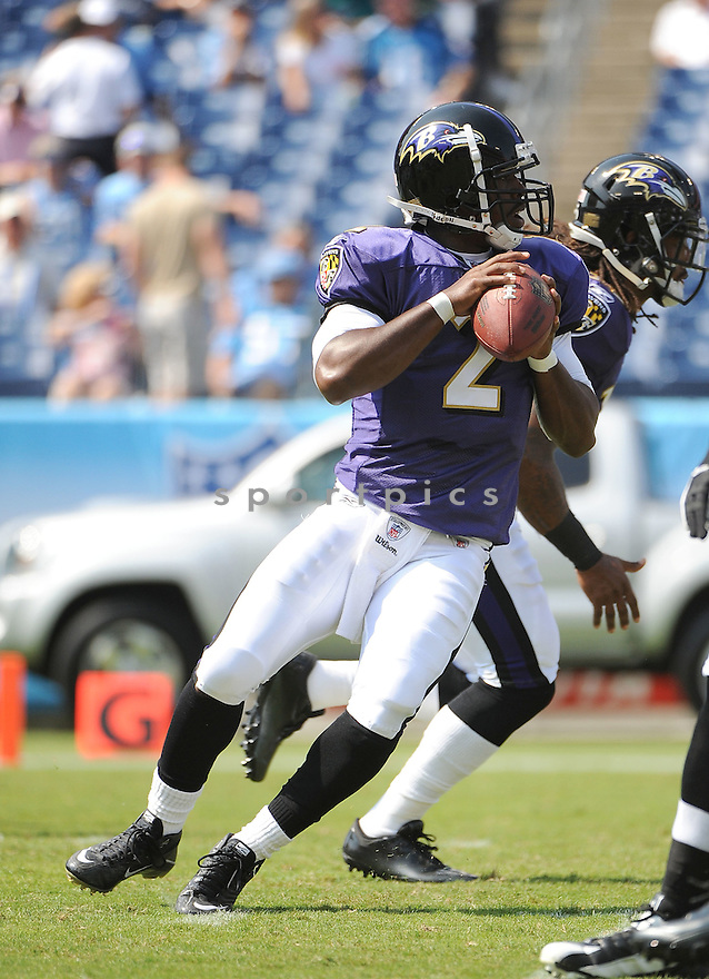 TYROD TAYLOR, of the Baltimore Ravens, in action, during the Ravens game against the Tennessee Titans on September 18, 2011 at LP Field in Nashville, TN. The Titans beat the Ravens 26-13.