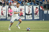 FOXBOROUGH, MA - JULY 27:  Oriol Rosell #20 advances across the midfield at Gillette Stadium on July 27, 2019 in Foxborough, Massachusetts.