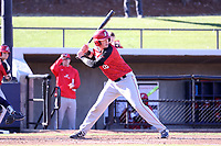 GREENSBORO, NC - FEBRUARY 25: Ian Halpin #26 of Fairfield University waits for a pitch during a game between Fairfield and UNC Greensboro at UNCG Baseball Stadium on February 25, 2020 in Greensboro, North Carolina.