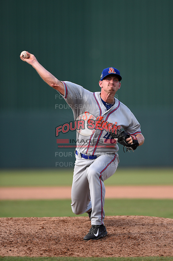St. Lucie Mets pitcher Mike Hepple (40) delivers a pitch during a game against the Fort Myers Miracle on April 19, 2015 at Hammond Stadium in Fort Myers, Florida.  Fort Myers defeated St. Lucie 3-2 in eleven innings.  (Mike Janes/Four Seam Images)