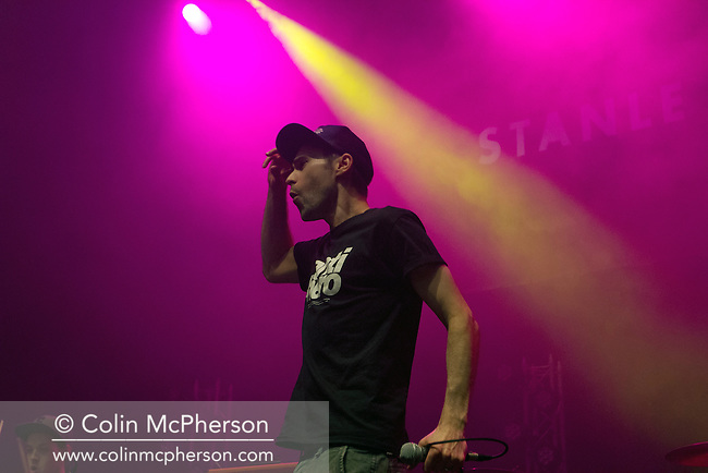 Scottish rapper Stanley Odd appearing at A Night for Scotland, a concert at the Usher Hall, Edinburgh staged by supporters of Scottish independence. The concert featured a number of top Scottish musicians and bands all of whom were supporting Scotland's independence from the rest of the United Kingdom. On the 18th of September 2014, the people of Scotland voted in a referendum to decide whether the country's union with England should continue or Scotland should become an independent nation once again.