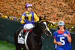 HOT SPRINGS, AR - APRIL 13:  Fantasy Stakes at Oaklawn Park on April 13, 2018 in Hot Springs, Arkansas. #5 Bo Peep with jockey Jon Kenton Court (Photo by Ted McClenning/Eclipse Sportswire/Getty Images)