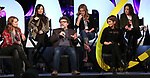Nell Benjamin, Ashley Parker, Jeff Richmond, Taylor Louderman, Tina Fey and Erika Henningsen on stage during Broadwaycon at New York Hilton Midtown on January 11, 2019 in New York City.